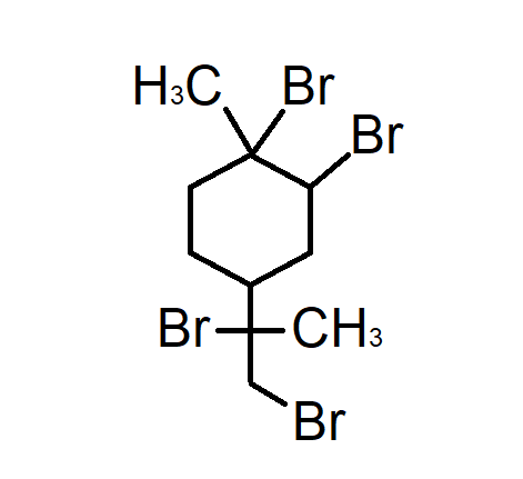 Dipentene tetrabromide Chemical Structure