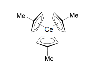 Tris(methylcyclopentadienyl)cerium(III) Chemical Structure