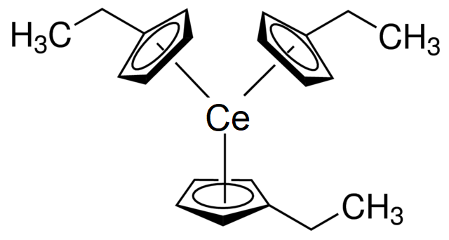 Tris(ethylcyclopentadienyl)cerium(III) Chemical Structure