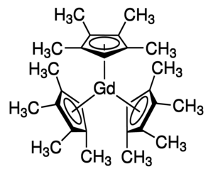 Tris(tetramethylcyclopentadienyl)gadolinium(III) Chemical Structure