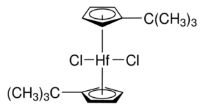 Bis(tert-butylcyclopentadienyl)hafnium dichloride Chemical Structure