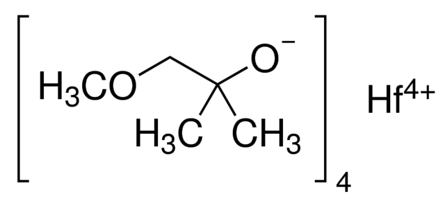 Tetrakis(1-methoxy-2-methyl-2-propoxy)hafnium(IV) Chemical Structure