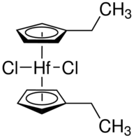 Bis(ethylcyclopentadienyl)hafnium dichloride Chemical Structure