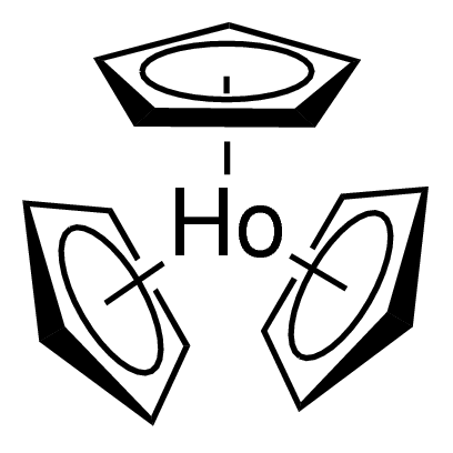 Tris(cyclopentadienyl)holmium(III) Chemical Structure