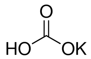 Potassium Bicarbonate, crystal Chemical Structure