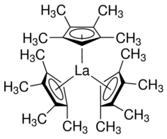 Tris(tetramethylcyclopentadienyl)lanthanum Chemical Structure