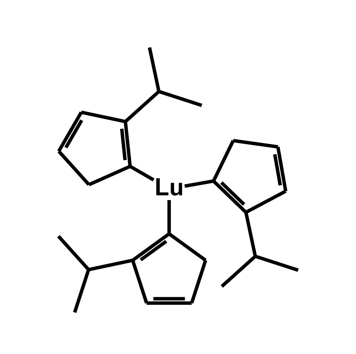 Tris(isopropylcyclopentadienyl)lutetium(III) Chemical Structure