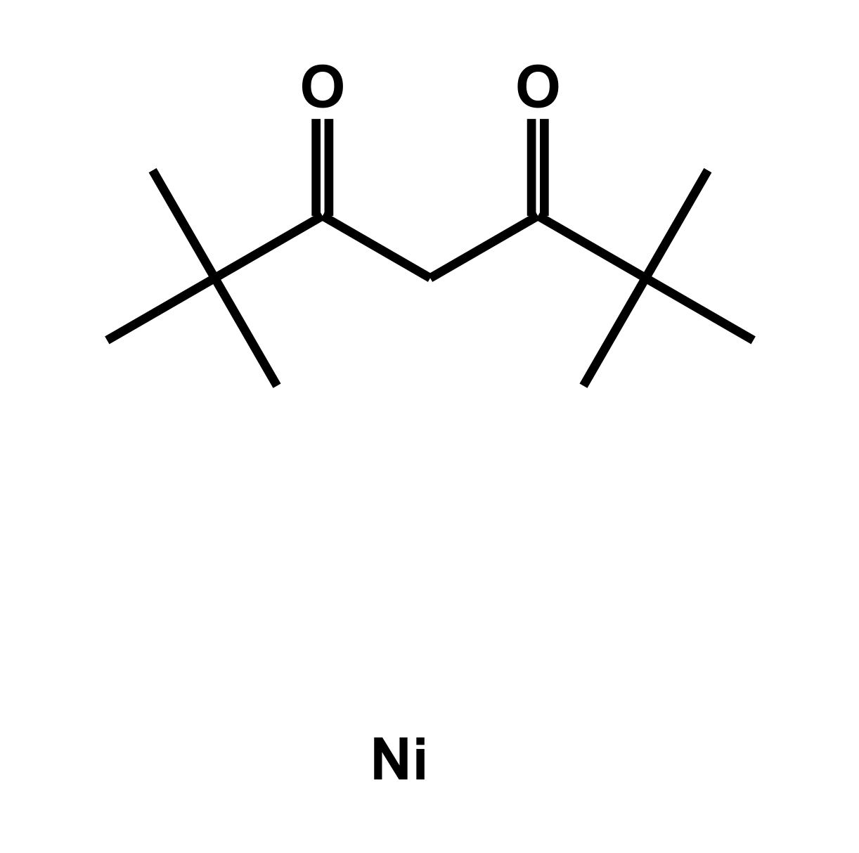 Bis(2,2,6,6-tetramethyl-3,5-heptanedionate)nickel Chemical Structure