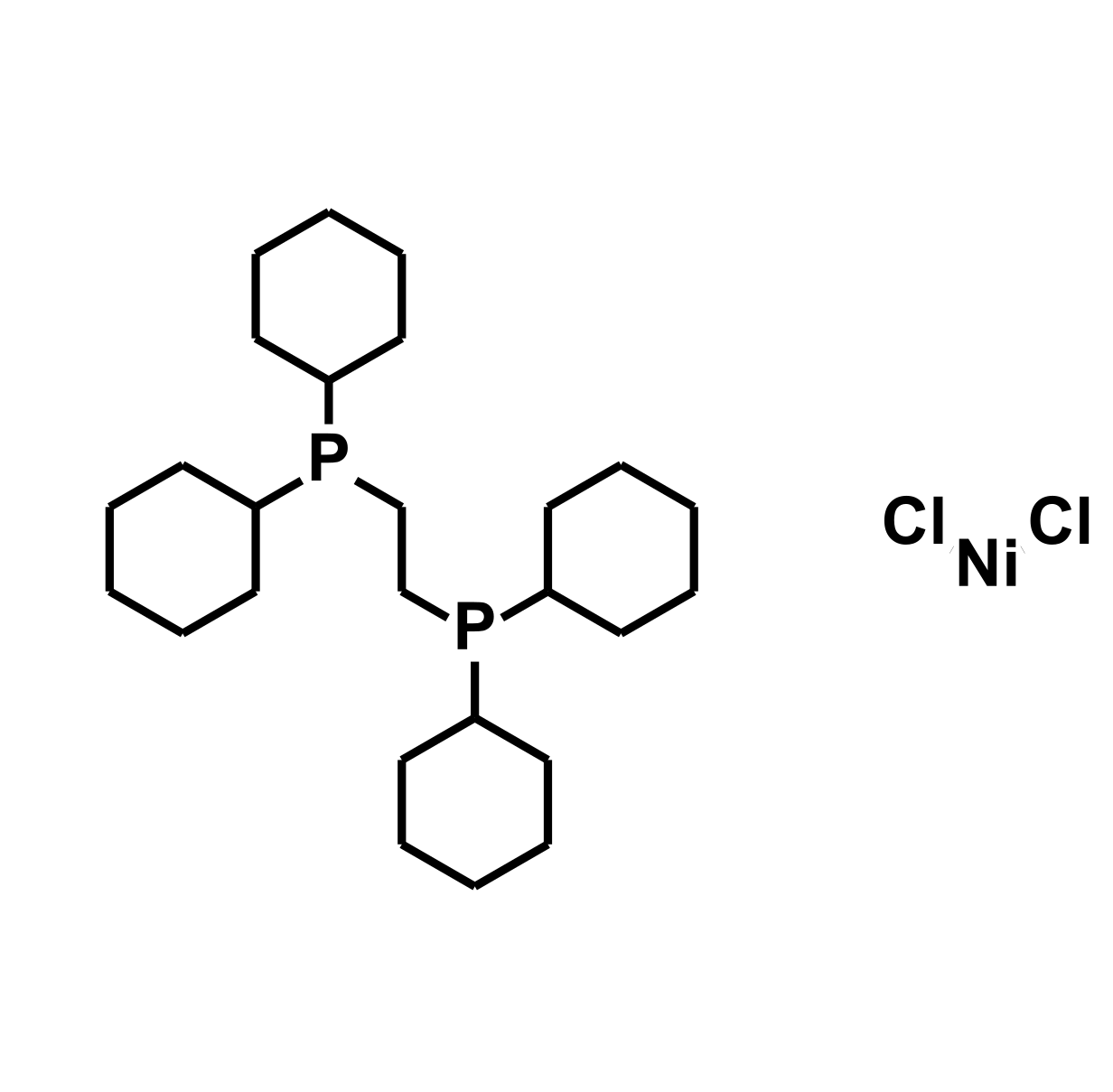 (1,2-Bis(dicyclohexylphosphino)ethane)dichloronickel(II) Chemical Structure
