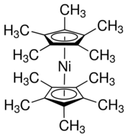 Bis(pentamethylcyclopentadienyl)nickel Chemical Structure