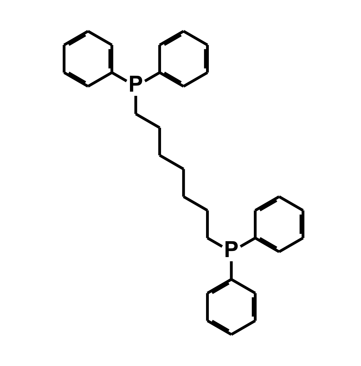 Bis(diphenylphosphino)heptane Chemical Structure