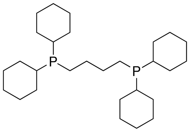 1,4-Bis(dicyclohexylphosphino)butane Chemical Structure
