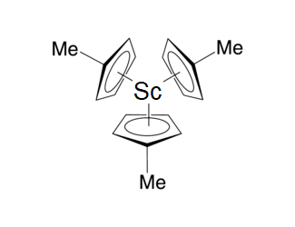 Tris(methylcylopentadienyl)scandium Chemical Structure