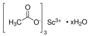 Scandium Acetate Chemical Structure