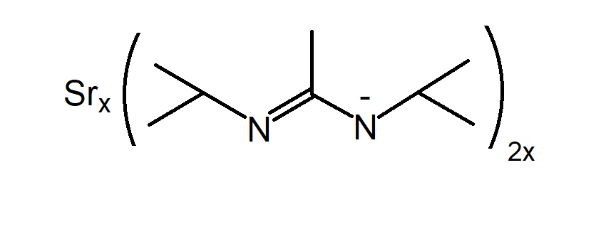 Bis(isopropylacetamidinate)strontium Chemical Structure