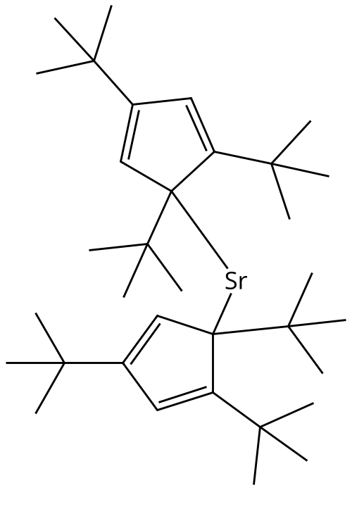 Bis(tri-tert-butylcyclopentadienyl)strontium Chemical Structure