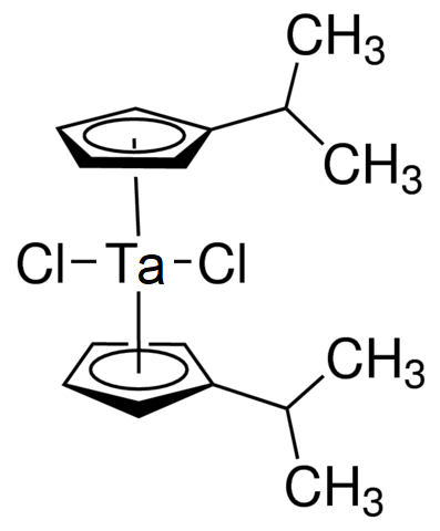 Bis(isopropylcyclopentadienyl)tantalum dichloride Chemical Structure