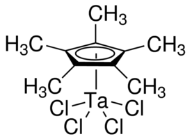 Pentamethylcyclopentadienyltantalum tetrachloride Chemical Structure