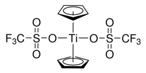 Bis(cyclopentadienyl)titanium(IV) bis(trifluoromethanesulfonate) Chemical Structure