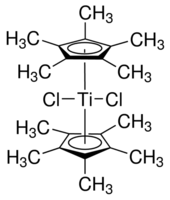 Bis(pentamethylcyclopentadienyl)titanium dichloride Chemical Structure