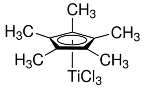 Pentamethylcyclopentadienyltitanium trichloride Chemical Structure