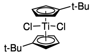 Bis(tert-butylcyclopentadienyl)titanium dichloride Chemical Structure