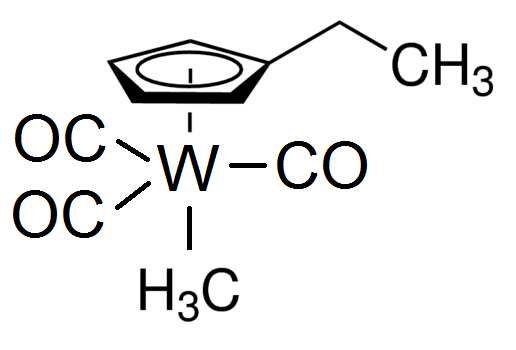 Ehylcyclopentadienyltungsten tricarbonyl methyl Chemical Structure