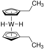 Bis(ethylcyclopentadienyl)tungsten dihydride Chemical Structure