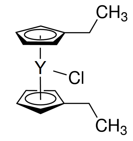 Bis(ethylcyclopentadienyl)yttrium chloride Chemical Structure