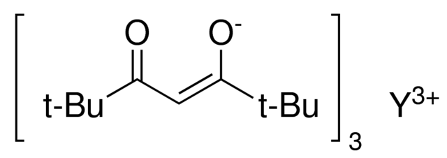 Yttrium(III) tris(2,2,6,6-tetramethyl-3,5-heptanedionate) Chemical Structure