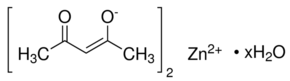 Zinc 2,4-pentanedionate Chemical Structure