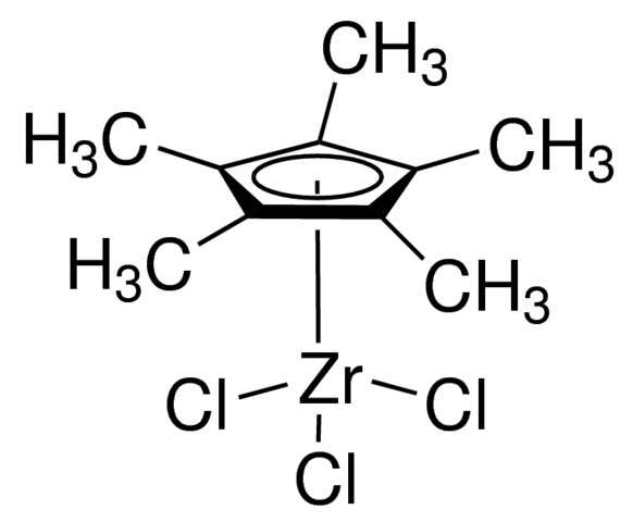 Pentamethylcyclopentadienylzirconium trichloride Chemical Structure