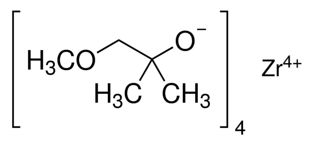 Tetrakis(1-methoxy-2-methyl-2-propoxy) zirconium Chemical Structure