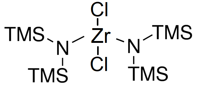 Zirconium bis(hexamethyldisilazide) dichloride Chemical Structure