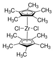 Bis(pentamethylcyclopentadienyl)zirconium dichloride Chemical Structure